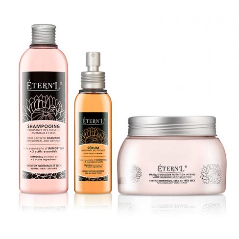 Etern'l Haarwachstumstheraphie: Shampoo, Serum, Haarkur